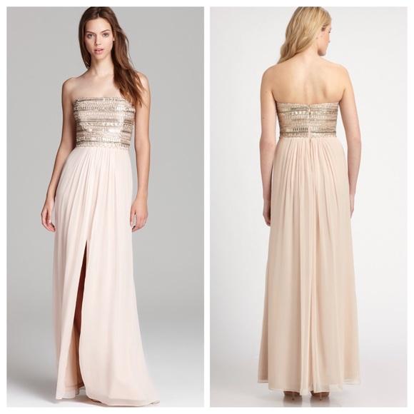 Aidan Mattox Dresses | Sequin Bodice Beaded Gown | Poshmark
